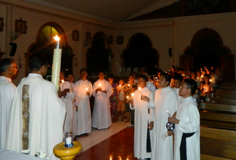 The Easter Vigil is celebrated